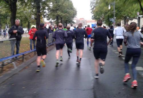 Auf dem letzten Kilometer vor dem Schloss Charlottenburg