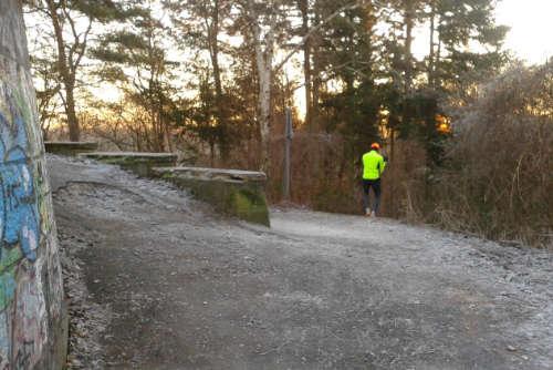 Läufer auf dem Rückweg