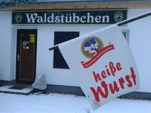 Biergarten im Winter