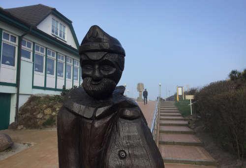 Skulptur an der Seebrücke Wustrow