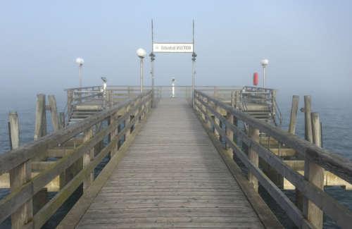 Brückenkopf der Seebrücke Wustrow