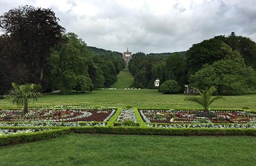 Parkanlage Schloss Wilhelmshöhe mit Blick auf den Herkules