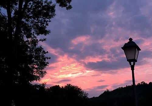 Abendhimmel über Schloss Balgstädt