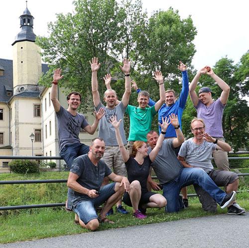 Gruppenbild Laufblogger-Camp 2017 Schloss Balgstädt
