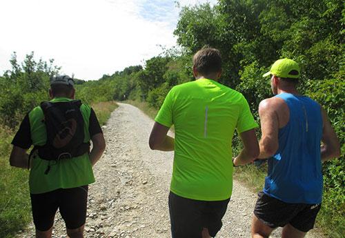 Erste Steigungen für die Laufblogger