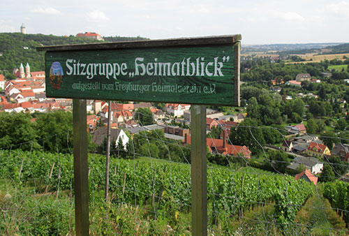 Schild Sitzgruppe Heimatblick
