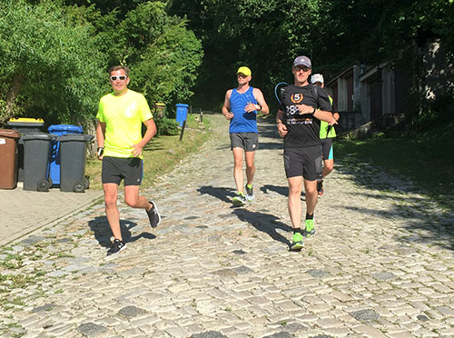 Laufblogger-Gruppe