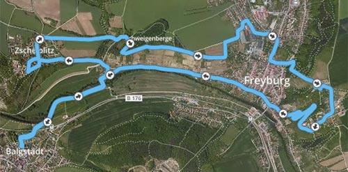 Laufstrecke Laufblogger-Camp 2017