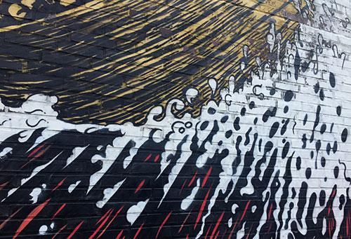 Welle – Detail einer Wandmalerei