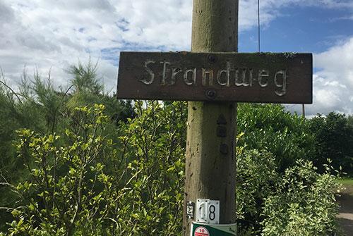 Schild Strandweg