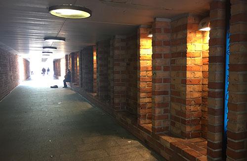 Tunnel zum Martinianleger