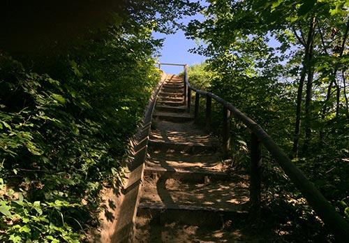 Steile Treppe am Hochuferweg