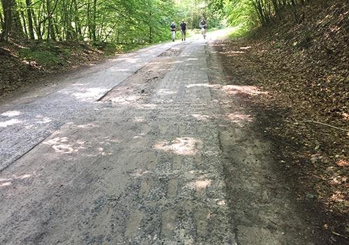 Betonplattenweg Richtung Binz