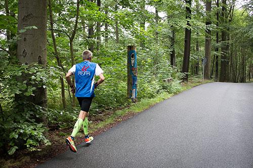 Läufer auf der 3. Etappe