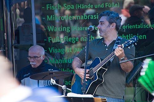 Musiker am Straßenrand