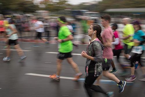 Läuferin am Innsbrucker Platz