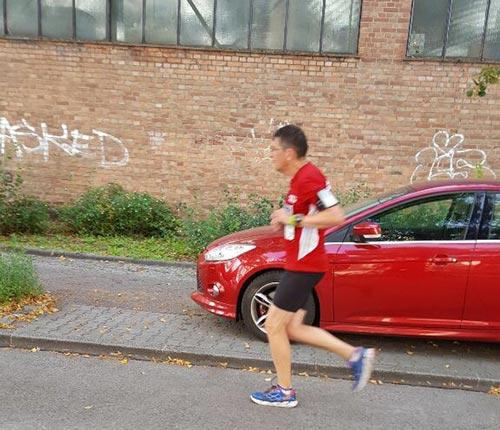 Läufer bei km 19