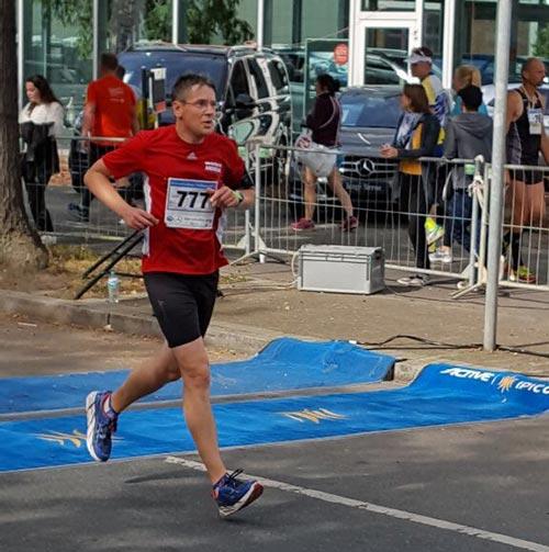 Zieleinlauf beim Halbmarathon in Tegel 2017