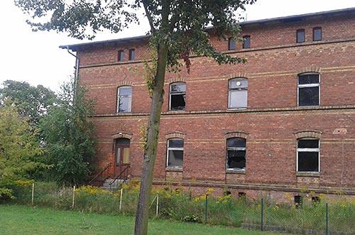Verfallenes Backsteingebäude in Diedersdorf