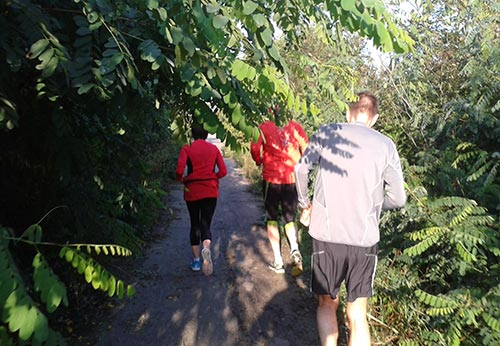 Laufen in der Marienfelder Feldmark