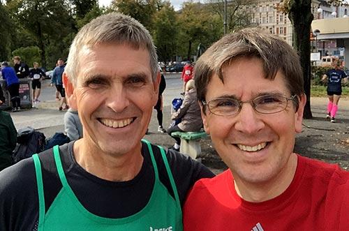 Läufer-Foto vor dem Start
