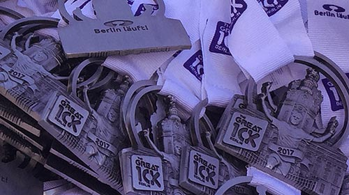 Medaillen des Great 10k Berlin