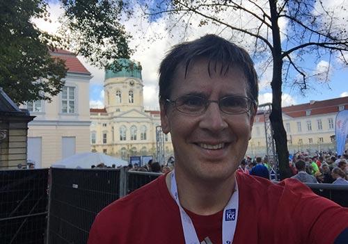 Läufer vor dem Schloss Charlottenburg