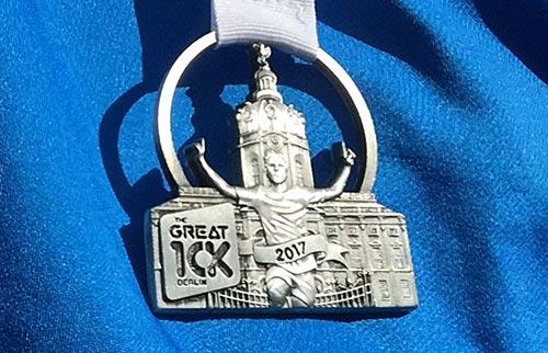Medaille Great 10k Berlin 2017