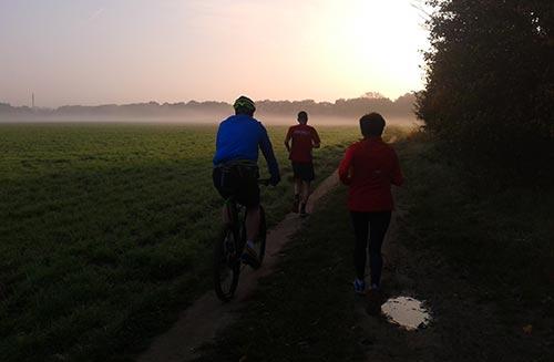 Nebelschwaden über den Feldern