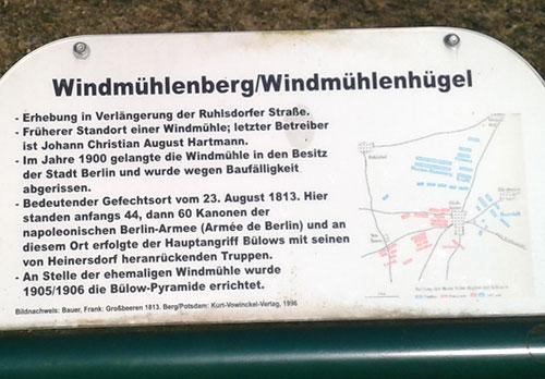 Schild Windmühlenberg Großbeeren