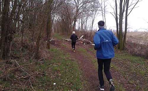 Läufer auf dem Mahlower Weg
