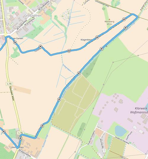 Streckendetail Luchwiesen