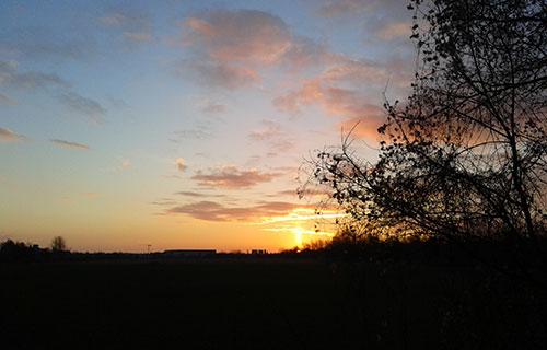 Wunderschöner Sonnenaufgang in Marienfelde