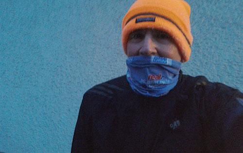 Läufer bei minus 13 Grad