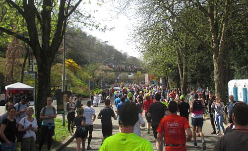 Frühlingsstimmung an der Laufstrecke