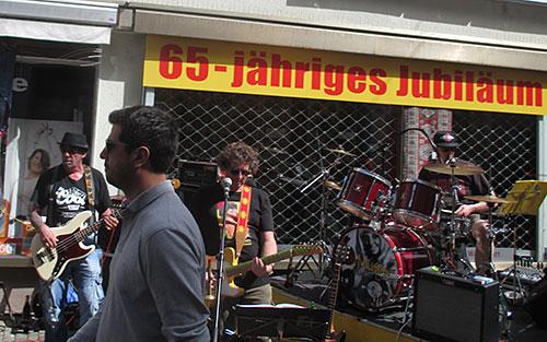 Bandmusiker machen Stimmung