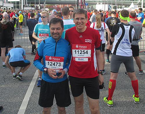 Läufer vor dem Start des Hamburg-Marathon 2018