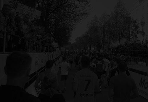 Hamburg-Marathon in schwarz