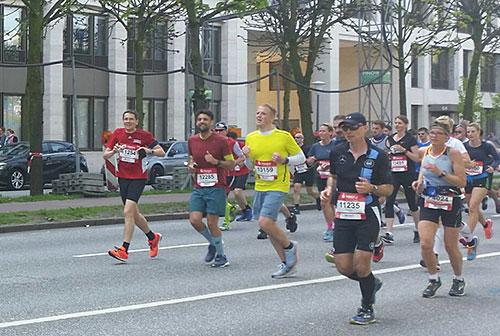 Marathon-Läufer bei km 18