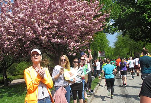 Blühende Obstbäume und jubelnde Zuschauer