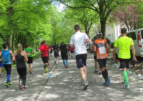 Läufer beim Hamburg-Marathon
