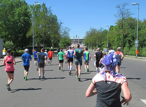 Läufer-Blick auf das Olympiastadion