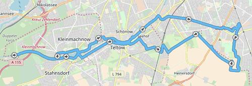Strecke nach Albrechts Teerofen