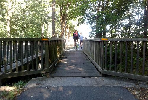 Holzbrücke Richtung Großbeeren