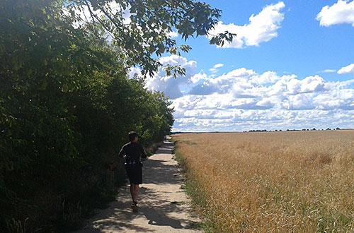 Läufer auf dem Trampelpfad Richtung B101