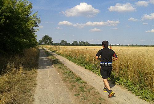 Läufer in der Nachmittagshitze
