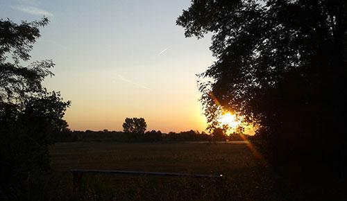 Sonnenaufgang am Diedersdorfer Weg