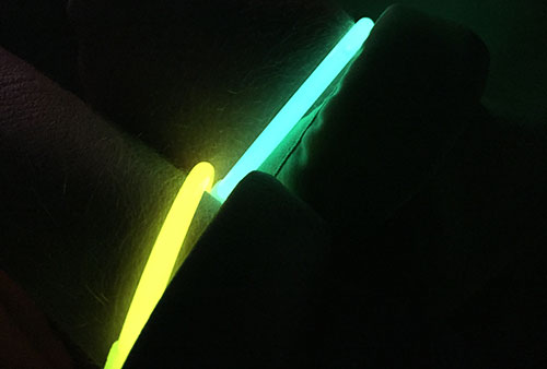 Leucht-Armbänder des Moon Run zwischen Ahlbeck und Bansin
