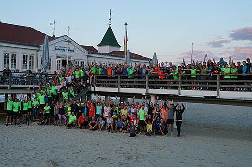 Gruppenfoto der Teilnehmer des Moon Run 2018