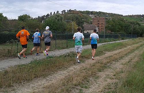 Laufblogger starten zum kleinen Lauf beim Laufbloggercamp 2018